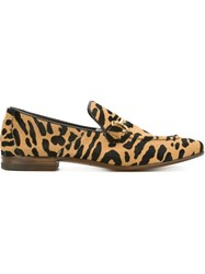 Henderson Baracco Animal Print Loafers Multicolour