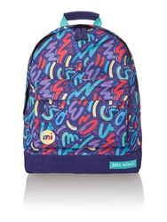 Mi Pac Crayon Print Backpack Multi Coloured