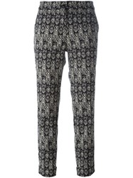 Etro Printed Cropped Trousers Black