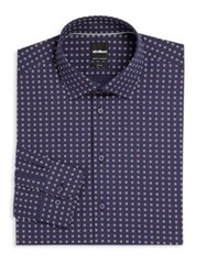 Strellson Floral Slim Fit Dress Shirt Navy