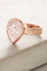 Anthropologie Tourmaline Peartine Ring Gold