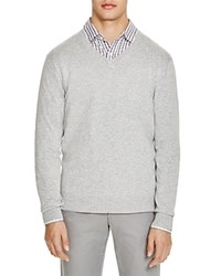 The Men's Store At Bloomingdale's V Neck Cotton Cashmere Sweater Heather Grey