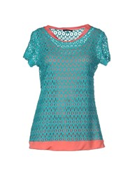 Byblos Topwear T Shirts Women Turquoise