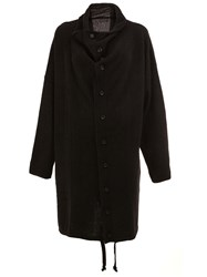 Yohji Yamamoto Oversized Button Down Coat Black