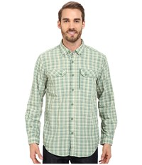 Exofficio Sol Cool Cryogen Plaid Long Sleeve Shirt Hops Men's Long Sleeve Button Up Green