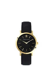Larsson And Jennings 'Liten Black' Leather Strap Watch