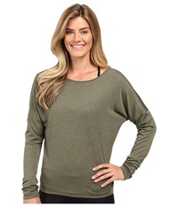 Lole Libby Long Sleeve Top Khaki Heather Women's Long Sleeve Pullover Brown