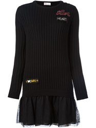 Red Valentino 'Love' Sweater Dress Black