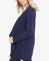 Motherhood Maternity Open Front Draped Cardigan Navy