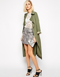 Goldie Step Out Skirt In Snakeskin Effect With Zip Multi