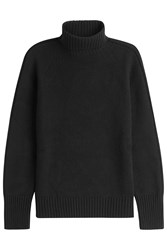 Iris Von Arnim Virgin Wool Turtleneck Pullover With Cashmere Black