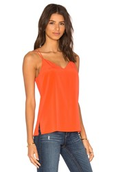 Bella Luxx Cross Back Spaghetti Cami Orange