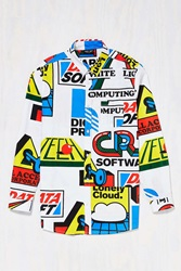Lazy Oaf Software Button Down Shirt Multi