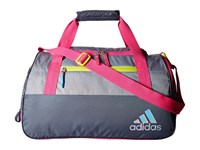 Adidas Squad Iii Duffel Deepest Space Grey Shock Pink Shock Slime Duffel Bags Blue
