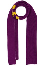 Raf Simons 2 Paneled Scarf In Purple