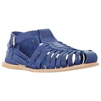 Dune Fisher Woven Buckle Sandals Blue