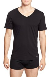 Men's Calvin Klein Slim Fit Cotton V Neck T Shirt 3 Pack