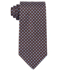 Brooks Brothers Men's Four Petal Flower Classic Tie Brown