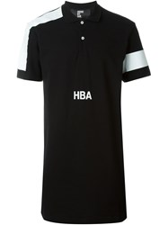 Hood By Air Logo Polo Shirt Black