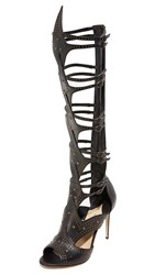 Paul Andrew Leila Gladiator Heeled Sandals Black