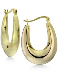 Giani Bernini Puff Oval Hoop Earrings In 18K Gold Plated Sterling Silver Only At Macy's