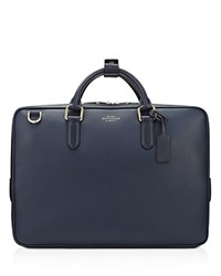 Smythson Slim Briefcase Navy