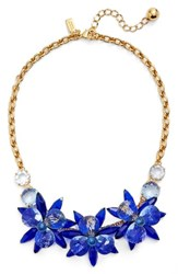 Kate Spade Women's New York 'Blooming Brilliant' Crystal Frontal Necklace Blue Multi