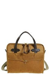 Men's Filson Canvas Briefcase Brown Tan