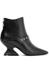 Dorateymur Radio Studded Leather Ankle Boots Black