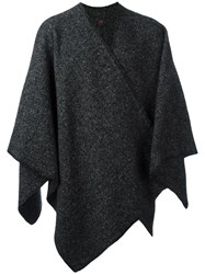 Massimo Piombo Mp Knitted Poncho Black
