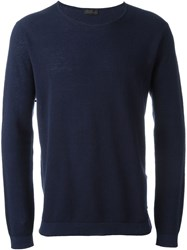 Z Zegna Crew Neck Sweatshirt Blue