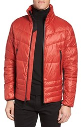 Michael Kors Men's Water Resistant Down Jacket Red Ochre