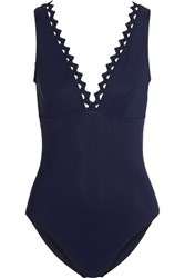 Karla Colletto Rick Rack Swimsuit Midnight Blue