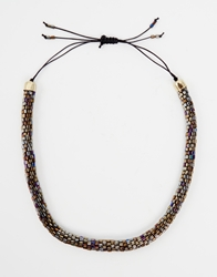 Weekday Blink Bead Tube Necklace Black