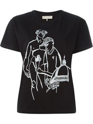 Emilio Pucci Embroidered T Shirt Black