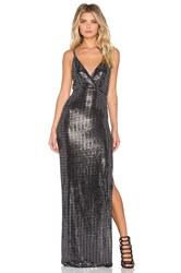 Oh My Love All Shook Up Maxi Dress Charcoal