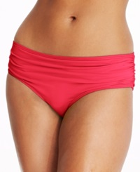 Coco Reef Ruched Bikini Bottom Women's Swimsuit Red