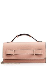 Red Valentino Leather Shoulder Bag With Chain Rose