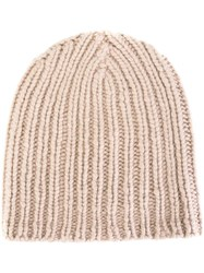 Warm Me Ribbed Beanie Nude Neutrals