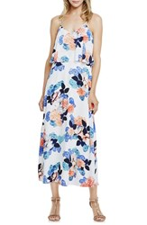Women's Vince Camuto 'Floral Garden' Crop Overlay Maxi Dress New Ivory