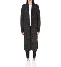 French Connection Flora Longline Cardigan Black Rhino