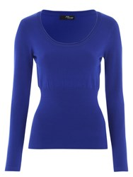 Jane Norman Deep Rib Scoop Jumper Blue