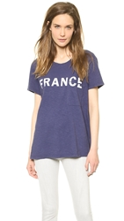 Textile Elizabeth And James France Bowery Tee Dark Blue White