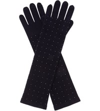 William Sharp Swarovski Elbow Cashmere Gloves 280Hem