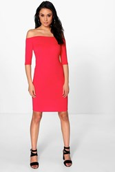 Sonia Summer 3 4 Sleeve Bodycon Dress
