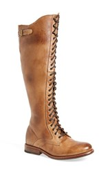 Bed Stu Women's 'Della' Lace Up Boot Tan Rustic Leather