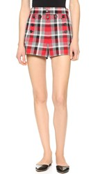 Marc Jacobs Sailor Shorts With Tie Back Red