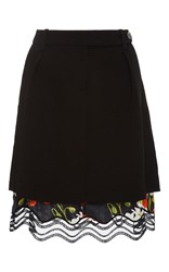 Alexis Mabille Black Two In One Skirt
