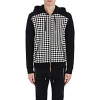 Balmain Men's Checked Zip Front Hoodie No Color