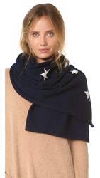 Chinti And Parker Star Scarf Navy Cream